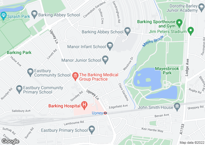 Map for Stratton Drive, Barking, Essex, IG11