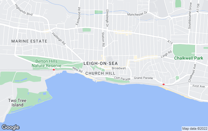 Map for Legra Homes, Leigh-On-Sea