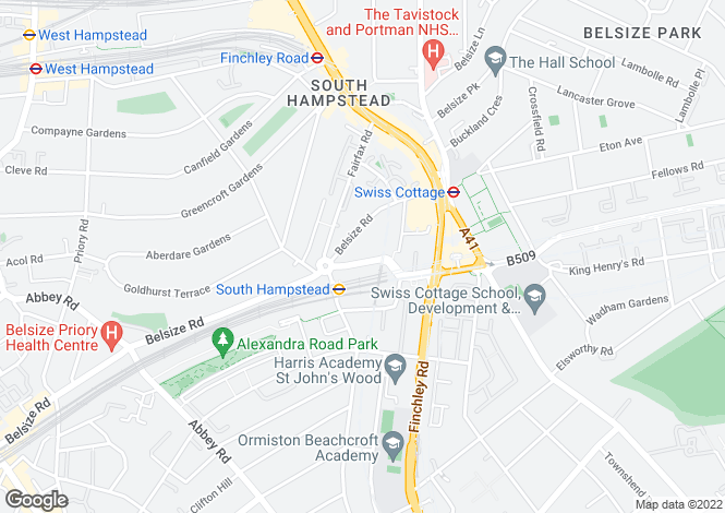 Map for Hilgrove Rd, South Hampstead, London, NW6