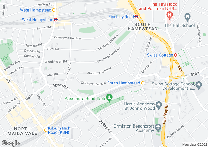 Map for Three Bedroom Garden Apartment West Hampstead