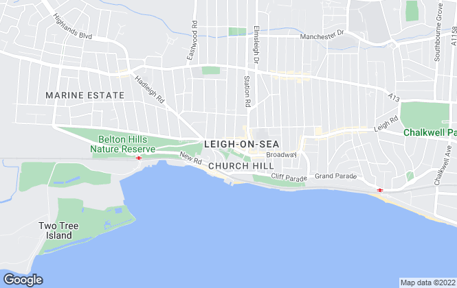 Map for Castle Estate Agents, Leigh-On-Sea