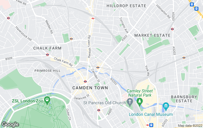 Map for YOUR MOVE Bentley & Co Lettings, Camden