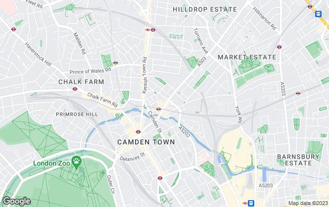 Map for Bentley & Co, Camden