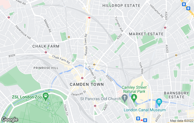 Map for YOUR MOVE - Bentley & Co, Camden