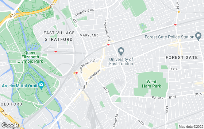 Map for Foxtons, Stratford