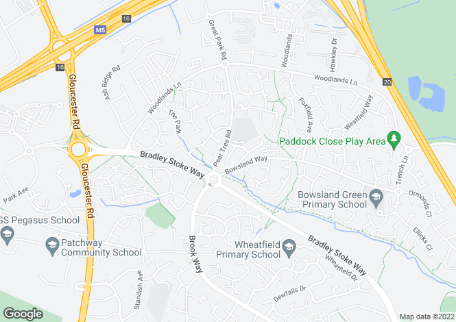 Map for Broad Croft, Bradley Stoke