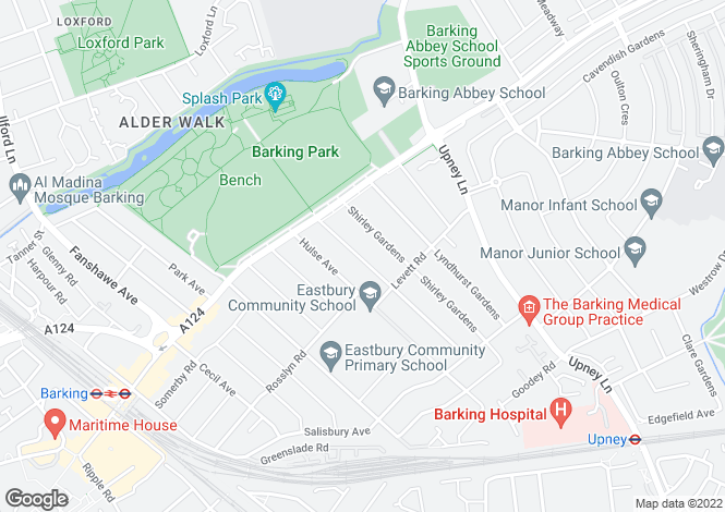 Map for BARKING, IG11, Barking, Essex