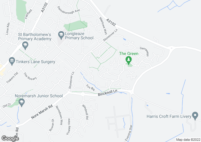 Map for High Mead,