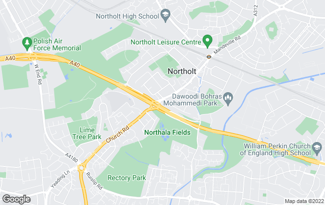 Map for Sanders & Co, Northolt