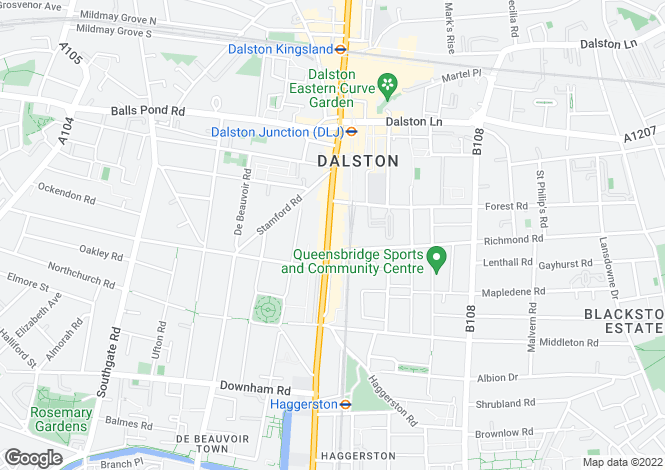 Map for Dalston E8