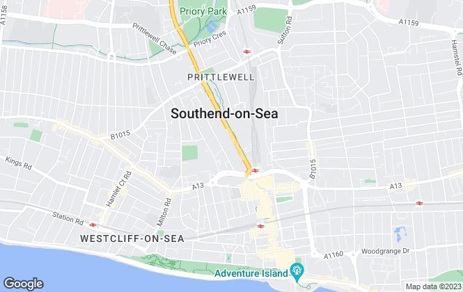 Map for Hybricks, Southend-on-Sea