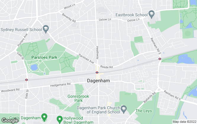 Map for Steps Estate Agents, Dagenham