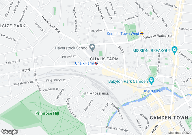 Map for Regents Park Road, London, NW1