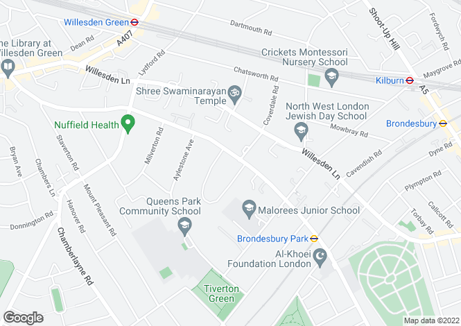 Map for Brondesbury Park, London, London, NW6