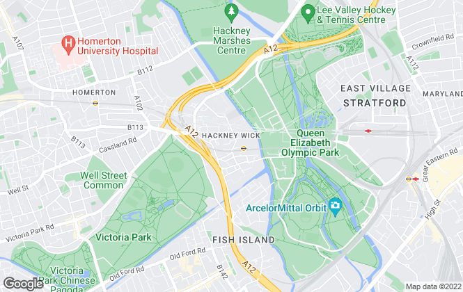 Map for Currell, Hackney Wick Fish Island - Lettings