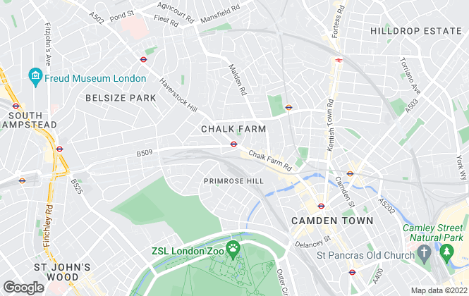 Map for Stones Residential, Belsize Park