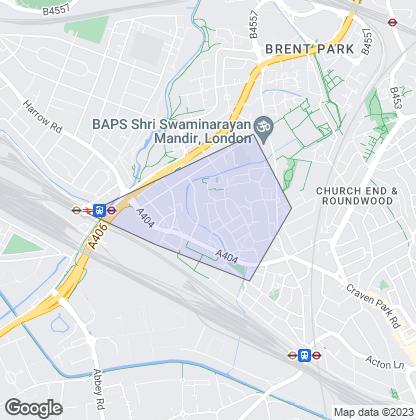 Map of property in Stonebridge Park