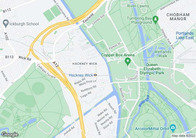 Map for Hackney Wick E9