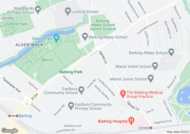 Map for Ventnor Gardens, Barking, Essex, IG11