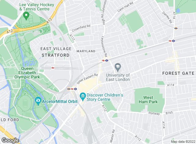 Map for Sanderson Estates, Stratford - Lettings