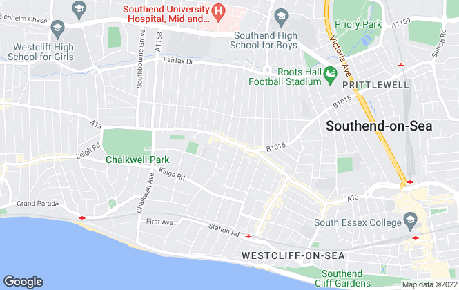 Map for Crowstone Estates, Westcliff-On-Sea