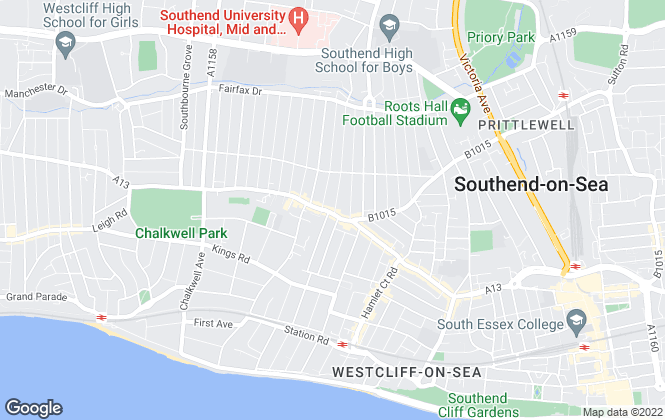 Map for 1st Call Sales & Lettings, Westcliff-on-Sea