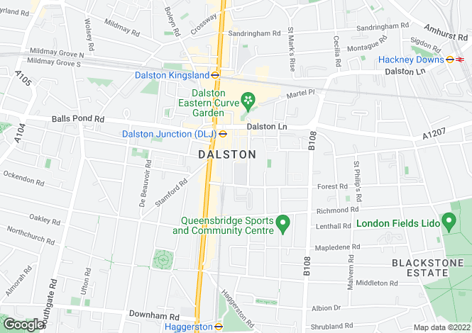 Map for Roseberry House at Dalston Square -  Roseberry House, Roseberry Place,