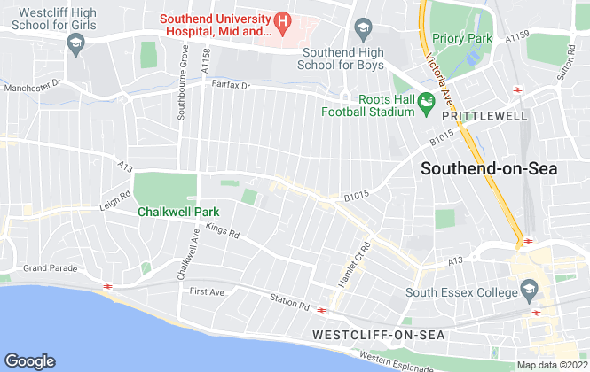 Map for easymove estate agents , Westcliff-on-Sea