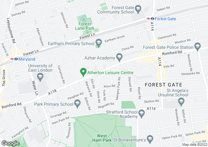 Map for Romford Road, Forest Gate, E7