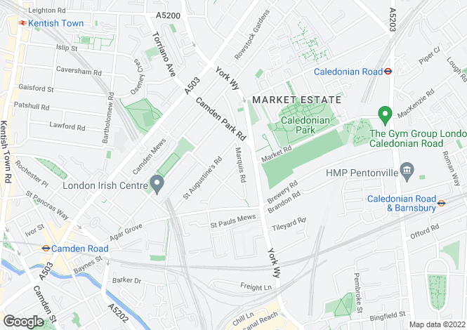 Map for Marquis Road, London, NW1