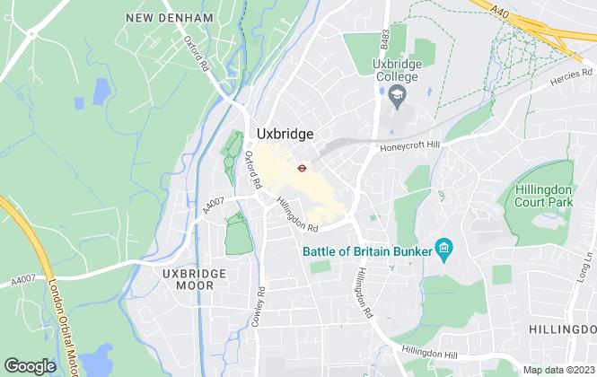 Map for Bennett Residential , Uxbridge