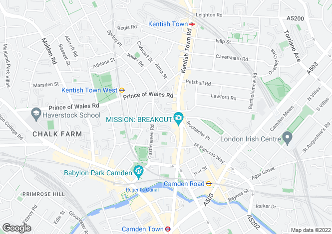 Map for Kelly Street Camden Town NW1