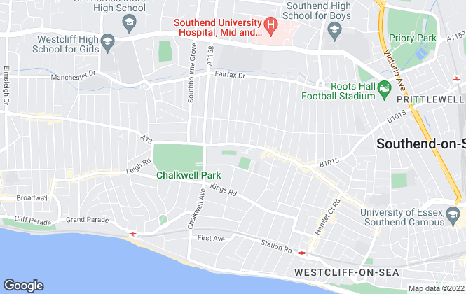 Map for Norton Properties, Westcliff On Sea - Lettings