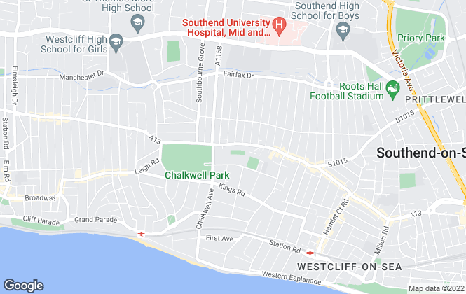 Map for Essex Property Centre, Westcliff-on-Sea