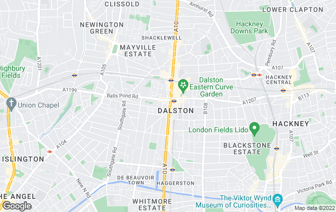 Map for Stirling Ackroyd Lettings, Dalston