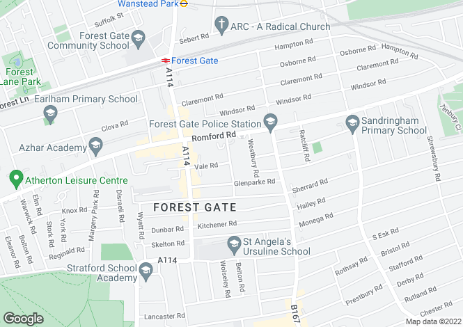 Map for Forest Gate, E7, Forest Gate, London