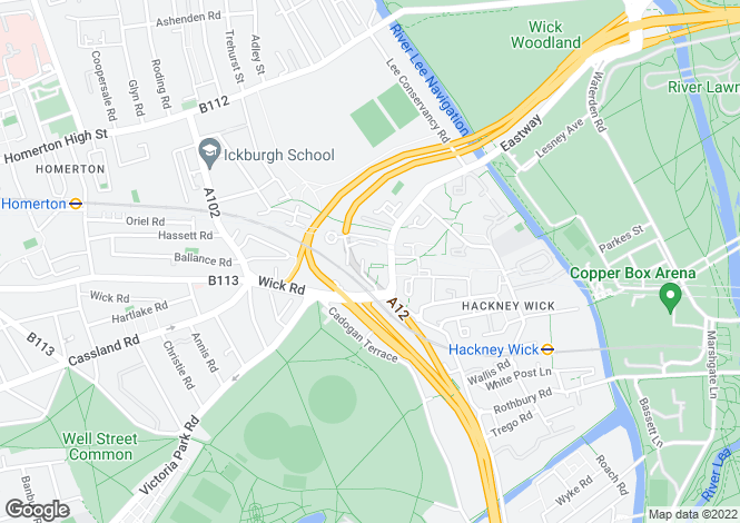Map for OLYMPIC PROPERTY- Hackney, E9 (East Way)