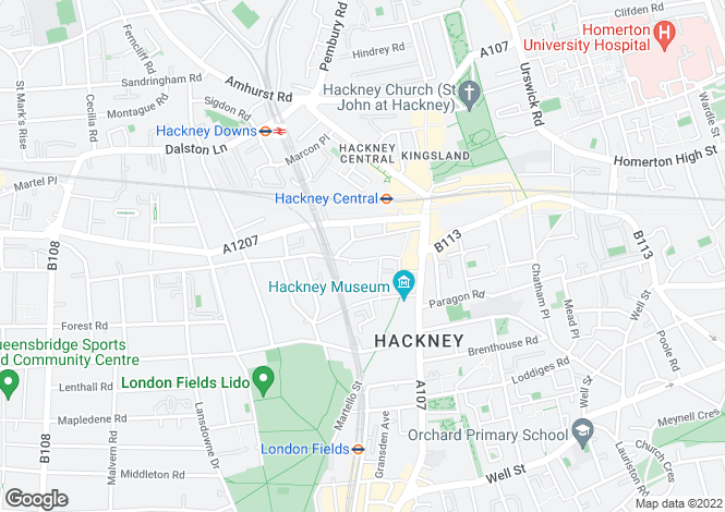 Map for Wilton Way, Hackney, E8 1BH