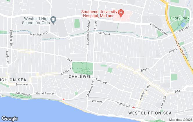 Map for Leonard Peters, Westcliff-on-Sea