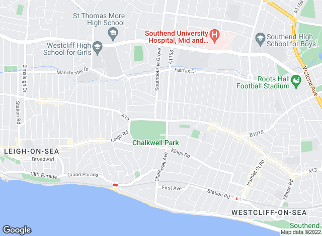 Map for Penneck Estate Agents, Westcliff-On-Sea