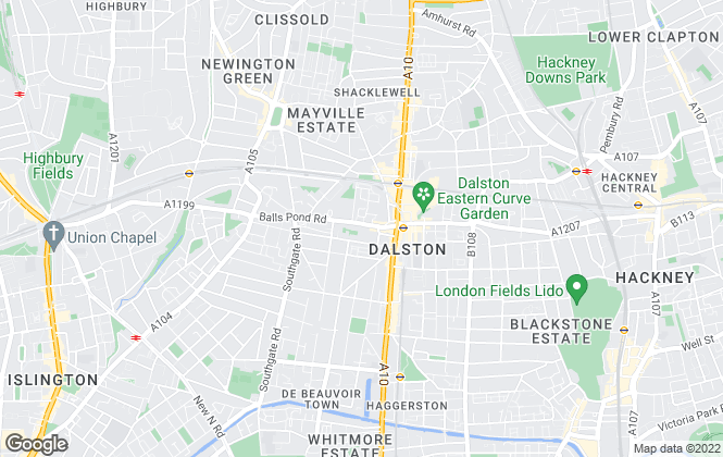 Map for Blake Stanley Estate Agents, Dalston
