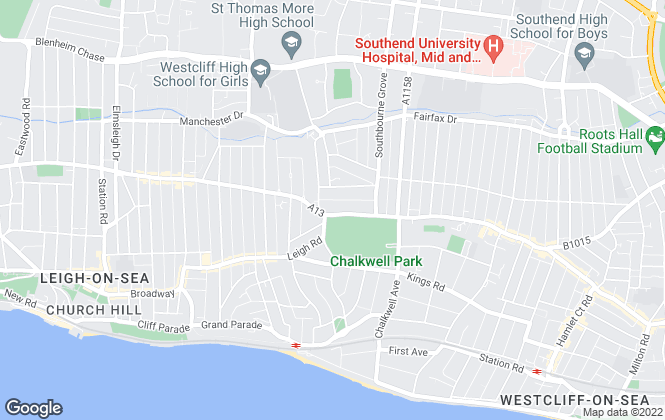 Map for Angel Homes & Lettings, Westcliff-on-sea