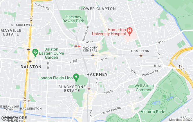 Map for Atkinson McLeod, Hackney - Lettings