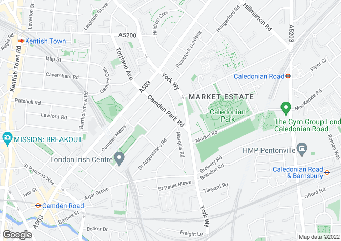 Map for Camden Park Road,