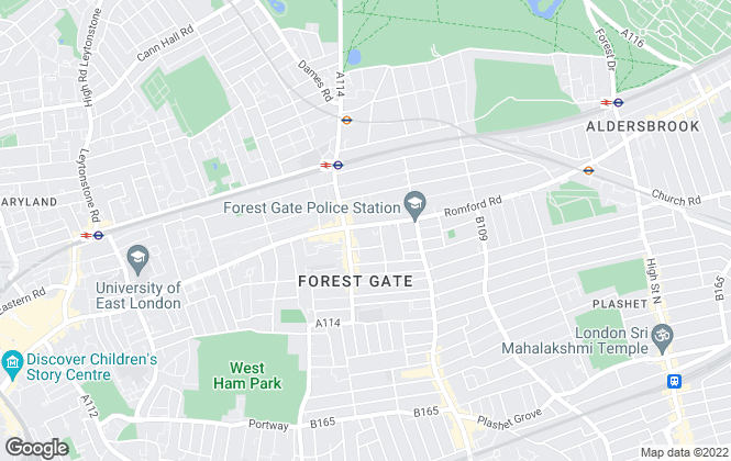 Map for Collins Estate Agents, Forest Gate