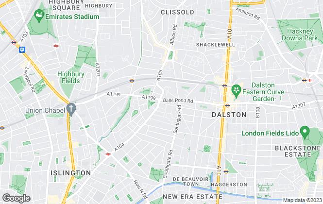 Map for Arlington Estates, London