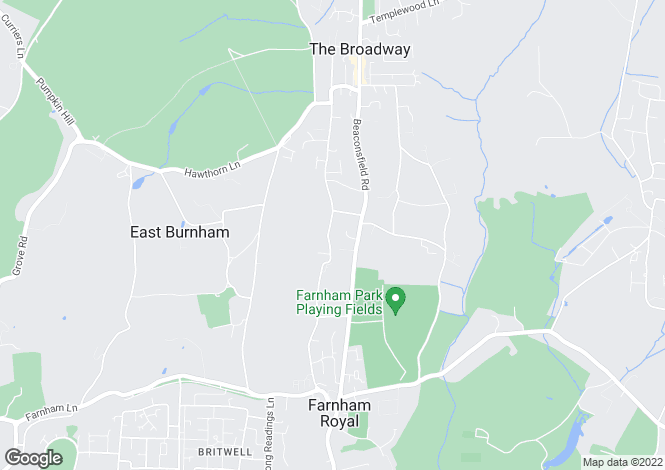 Map for Blackpond Lane, Farnham Royal, Buckinghamshire, SL2