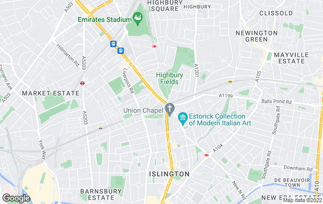 Map for City & Urban, Highbury