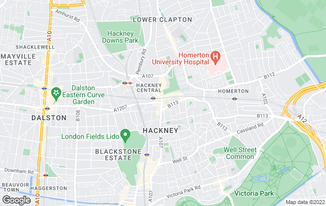 Map for Foxtons, Hackney
