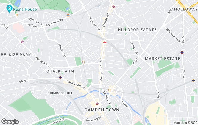 Map for Oliver's, Kentish Town - Lettings